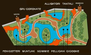 mappa Selva Tropicale in Lombardia